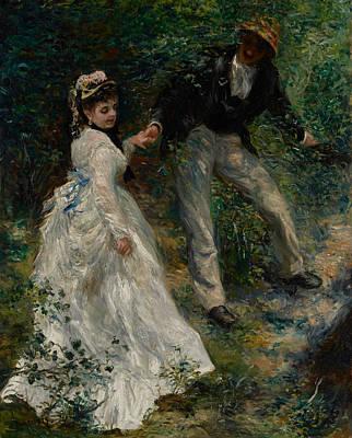 1870 Painting - La Promenade by Pierre Auguste Renoir