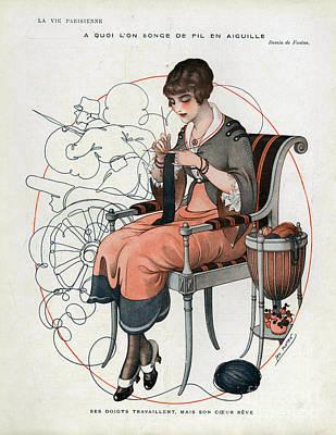 La Vie Parisienne  1916 1910s France Cc Art Print by The Advertising Archives