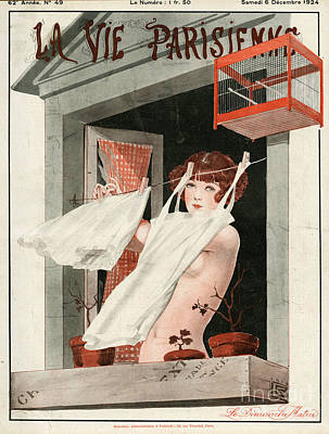 Nineteen Twenties Drawing - La Vie Parisienne  1924 1920s France by The Advertising Archives