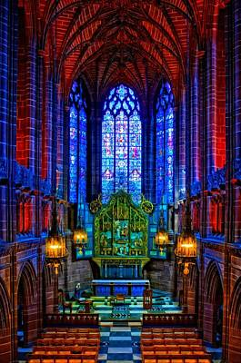 Religious Artist Mixed Media - Lady Chapel Inside Liverpool Cathedral by Ken Biggs
