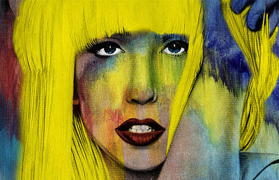 Modern Digital Art Digital Art Painting - Lady Gaga  by Mark Ashkenazi