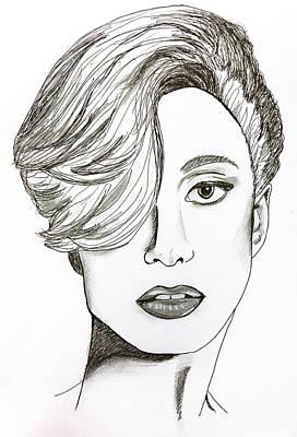 Lady Gaga Portraits Drawing - Lady Gaga by Pati Photography