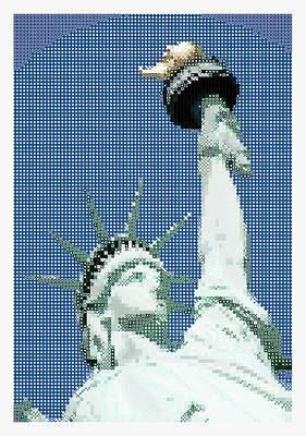 Liberty Painting - Lady Liberty by Celestial Images