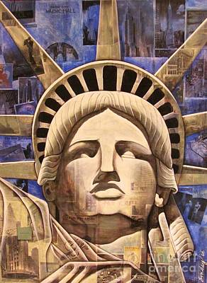 Painting - Lady Liberty by Joseph Sonday
