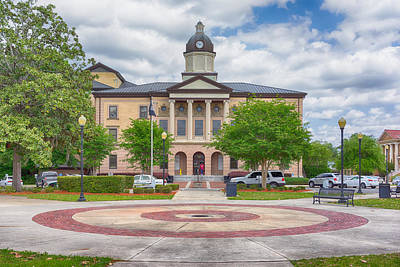 Photograph - Lake City Courthouse by Howard Salmon