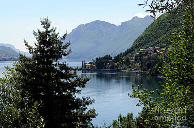 Photograph - Lake Como Italy  by Haleh Mahbod