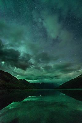 Photograph - Lake Eklutna Aurora by Roger Clifford