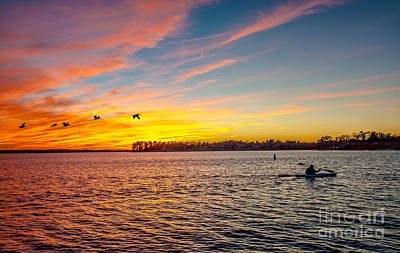Photograph - Lake Murray Fisherman by Mike Covington
