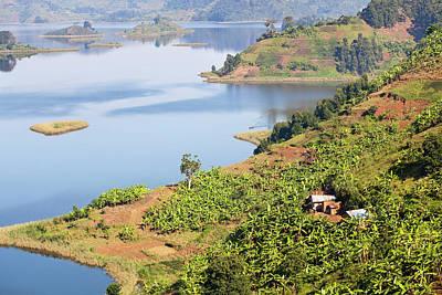 Plantain Photograph - Lake Mutanda Near Kisoro In Uganda by Martin Zwick