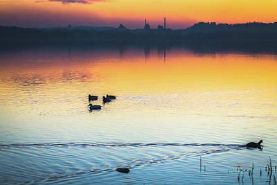 Photograph - Lake Sunset by Deimagine