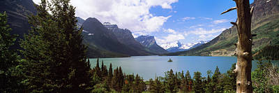 Lake Surrounded By Mountains, St. Mary Art Print