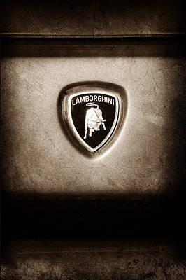 Photograph - Lamborghini Diablo Se Roadster Emblem by Jill Reger