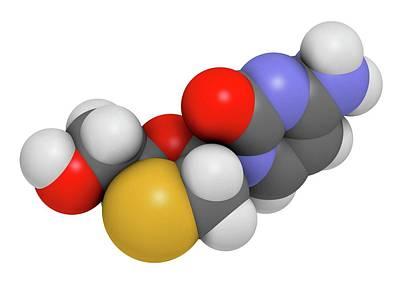 Lamivudine Antiviral Drug Molecule Art Print