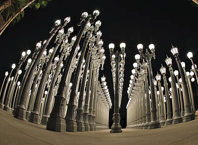 Robert Jensen Photograph - Lampposts by Robert Jensen