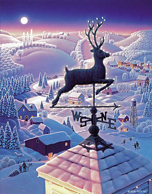 Folk Realism Painting - Lands End Weathervane by Robin Moline