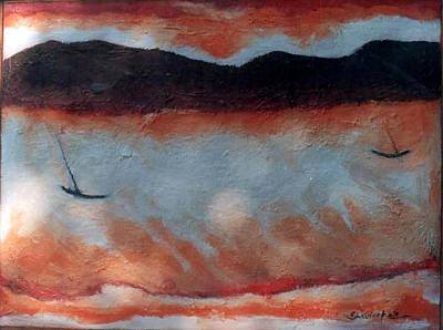 Painting - Landscape-1 by Anand Swaroop Manchiraju