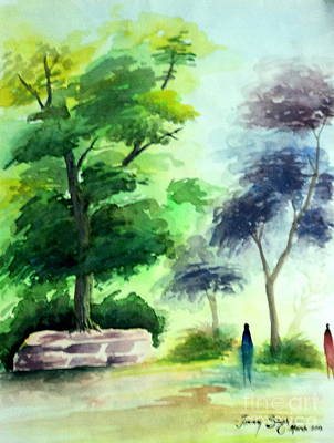 Painting - Landscape by Tanmay Singh