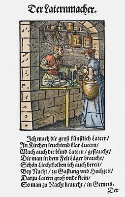 Display Window Painting - Lantern Maker, 1568 by Granger