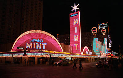 Glitter Gulch Photograph - Las Vegas 1983 by Frank Romeo