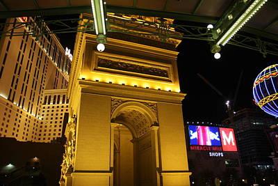 Las Vegas - Paris Casino - 12128 Print by DC Photographer