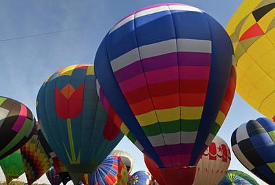 Launch Site At The Albuquerque Hot Air Art Print