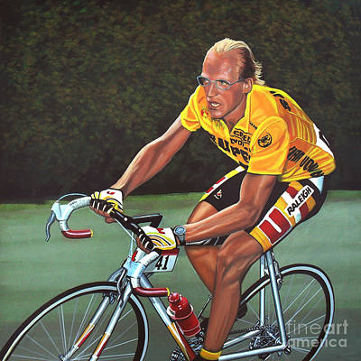 Laurent Fignon  Art Print by Paul Meijering