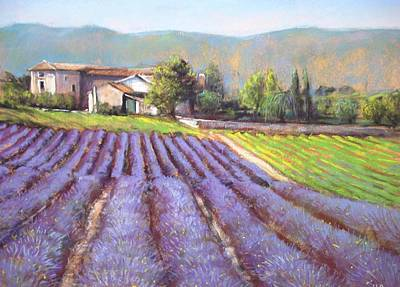 South Of France Painting - Lavender Field by Cecile Houel