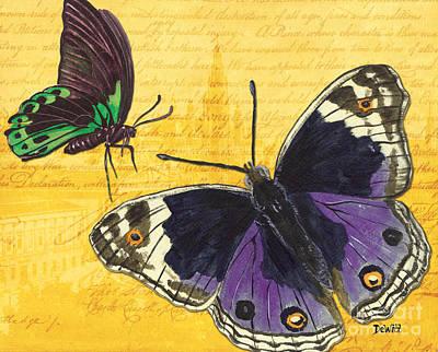 Motivational Mixed Media - Le Papillon 4 by Debbie DeWitt