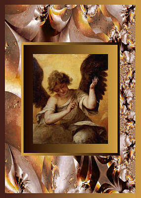 Painting - Leal Vintage Angel  by Robert Kernodle