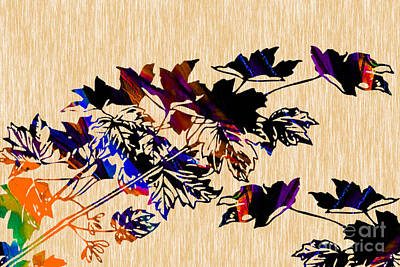 Leaf Mixed Media - Leaves by Marvin Blaine