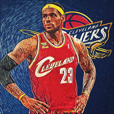 Lebron James Digital Art - Lebron James by Taylan Apukovska