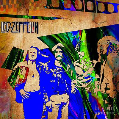 Led Zeppelin Painting Art Print