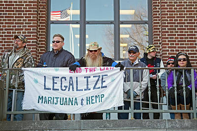 Legalisation Of Marijuana Rally Art Print by Jim West