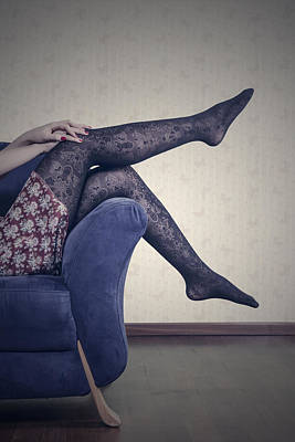 Panty Photograph - Legs by Joana Kruse