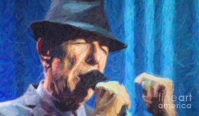 Leonard Cohen In Concert 2013 Art Print