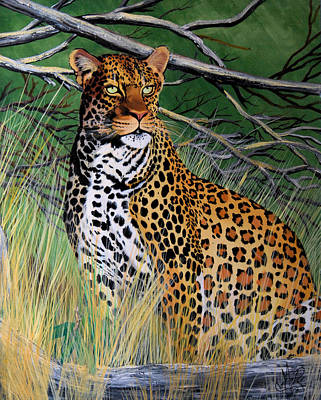 Painting - Leopard In Waiting by Cheryl Poland