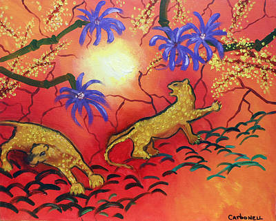 Painting - Leopards In The Sun by Rick Carbonell