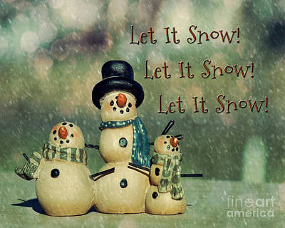 Photograph - Let It Snow by Pam  Holdsworth