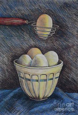 Lets Cook Art Print by Linda Simon