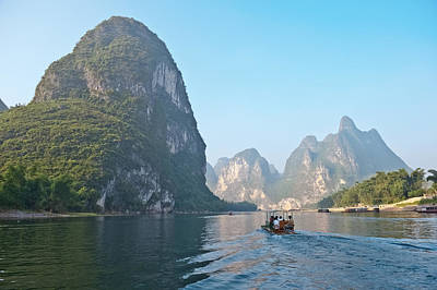 Photograph - Li River Near Yangshuo Guilin Mountains by Marek Poplawski