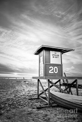 Lifeguard Tower 20 Newport Beach Ca Picture Art Print by Paul Velgos