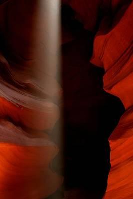 Light Beam At Antelope Canyon Art Print