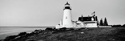 Lighthouse At A Coast, Pemaquid Point Art Print by Panoramic Images