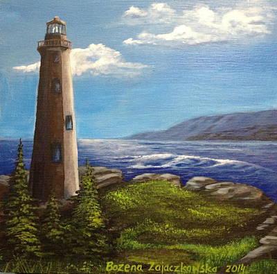 Painting - Lighthouse by Bozena Zajaczkowska