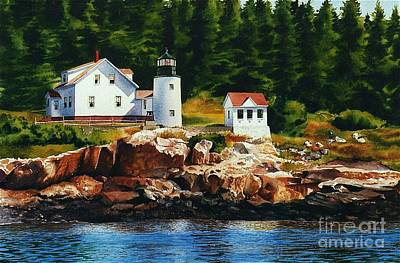 Lighthouse Solitude Art Print by Karol Wyckoff