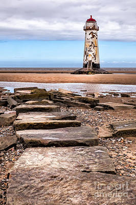 Talacre Photograph - Lighthouse Steps by Adrian Evans