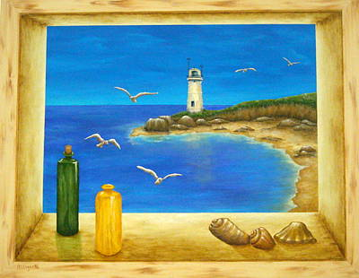 Beach Landscape Mixed Media - Lighthouse View by Pamela Allegretto