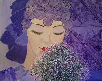 Art Print featuring the mixed media Lilac And Lace by Judi Goodwin