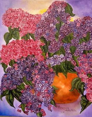 Lilacs Galore Art Print