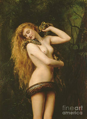 Reptiles Painting - Lilith by John Collier